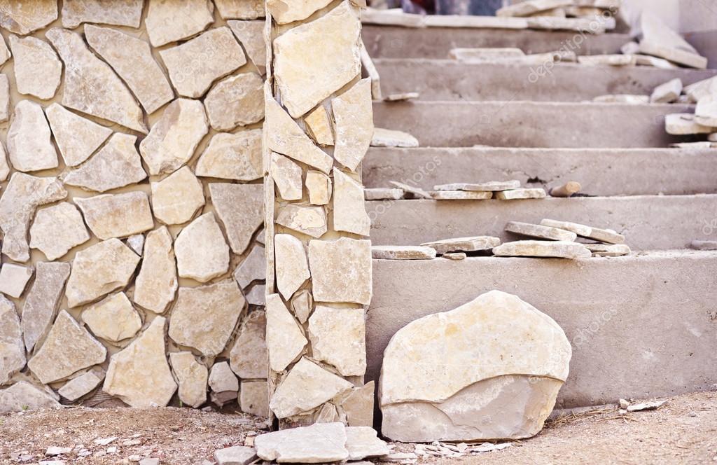 Kamienie Dekoracyjne Na ścianę Zdjęcie Stockowe