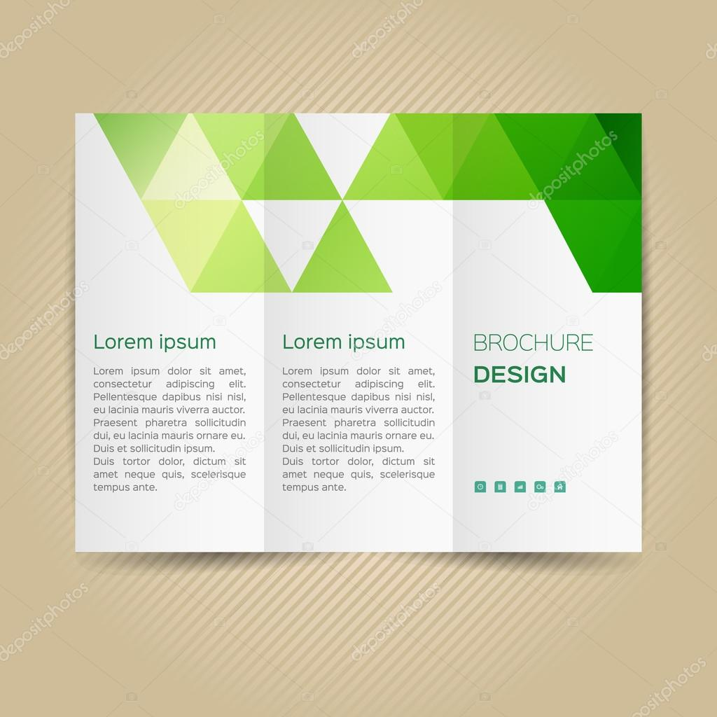 leaflet layout template — Stock Vector © halfpoint #95364848