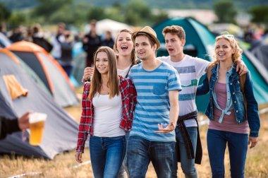 Teens at summer festival