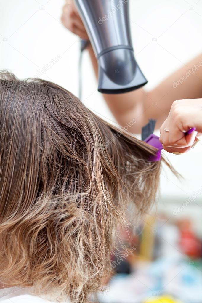 Keratin Hair Straightening At Home Stock Photo C Tosher 115941208