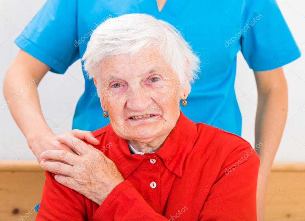 Mayor cuidado en el hogar — Foto de Stock