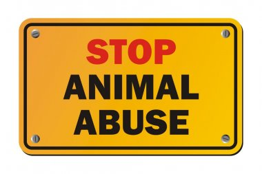 Stop animal abuse - warning signs