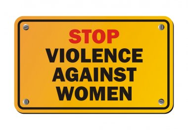 Stop violence against women - protest sign