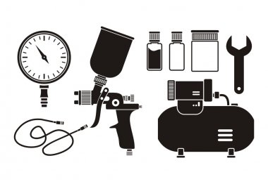 Spray painting equipment - pictogram