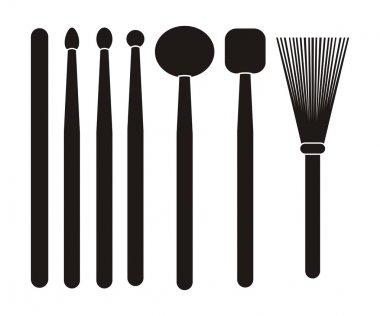 Drum stick - silhouette
