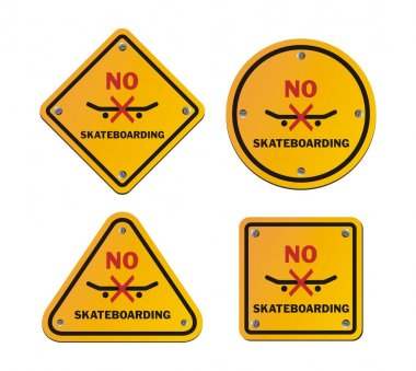 No skateboarding roadsigns