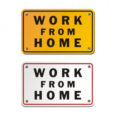 Work from home signs, suitable for signs and symbols clip art vector