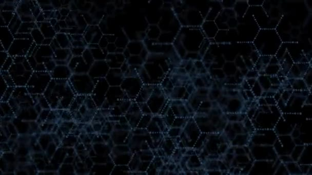 DNA molecule structure background. On a black background