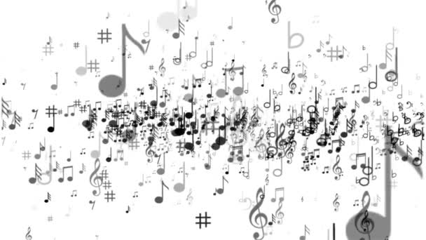 Sfondo bianco delle note di musica