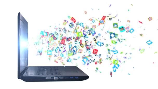Háttér ikonok szociális számítógép hálózat. Szociális hálózati ikonok