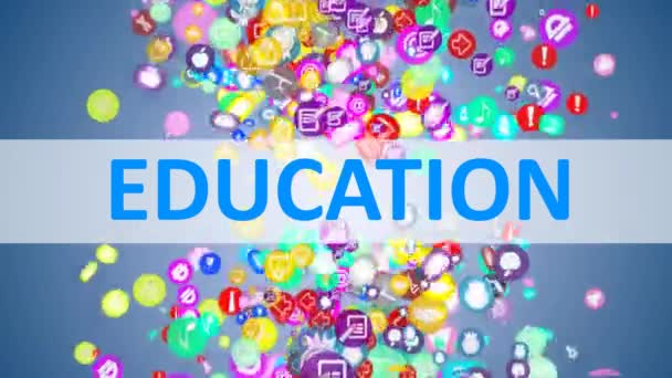Concept Education. background of the many icons on the topic of education