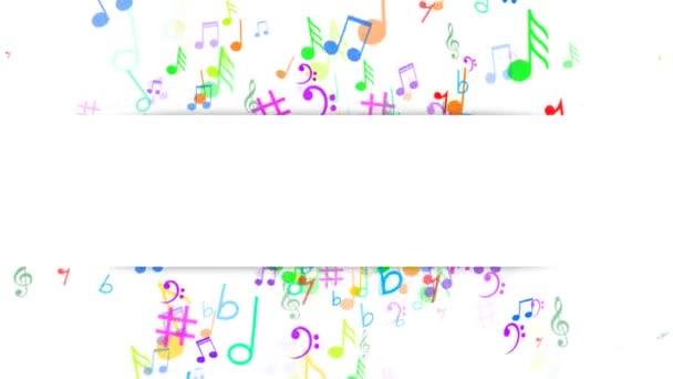Abstraktní pozadí s hudbou poznámky. Label-poznámky