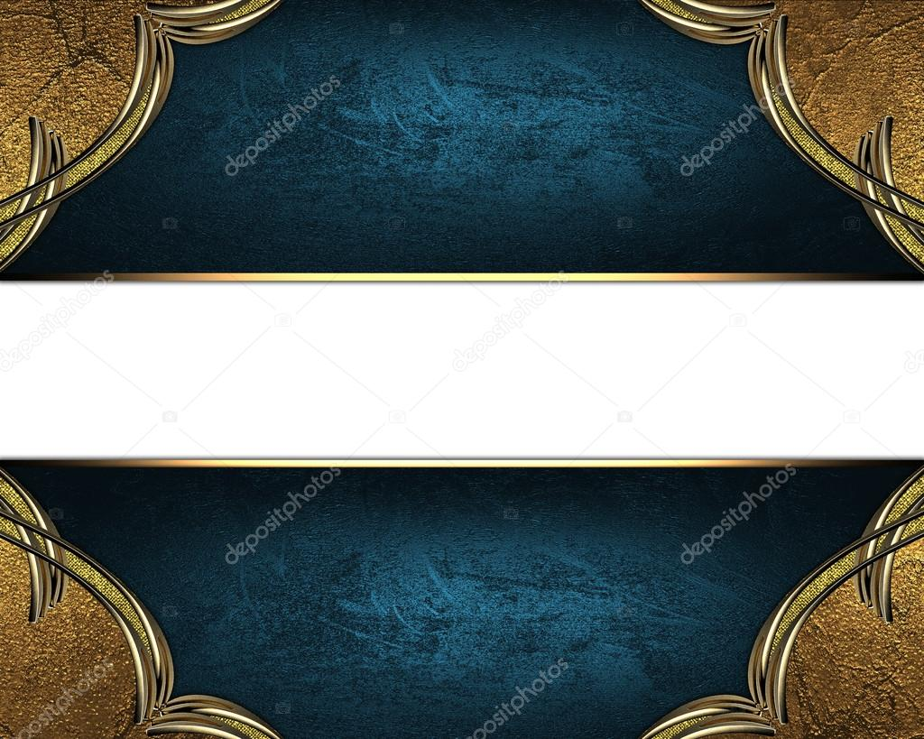 Blue Texture With Ornament And Blue Nameplate Template For Design