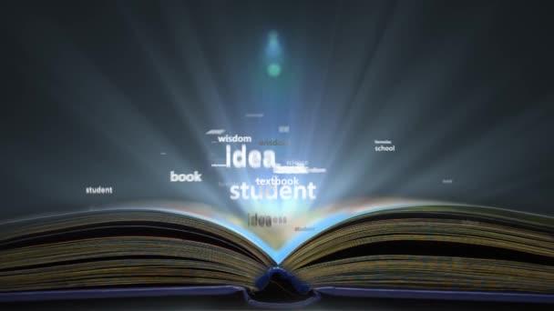 Detail. Koncepce vzdělávání slovo. Slovo mrak z knihy