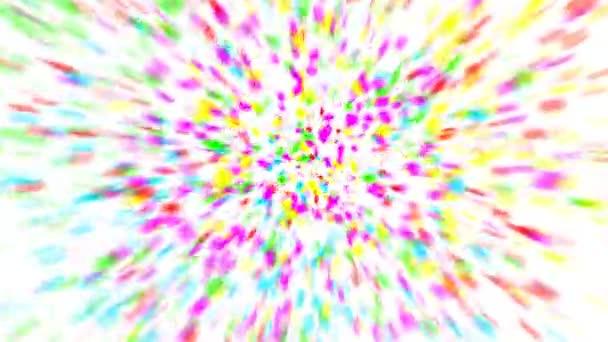 barevné konfety na bílém pozadí