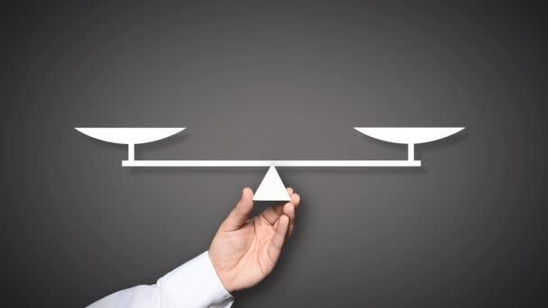 Uomo daffari di qualità pesa più di tre concetto di persone importanti persone, Leadership, affari
