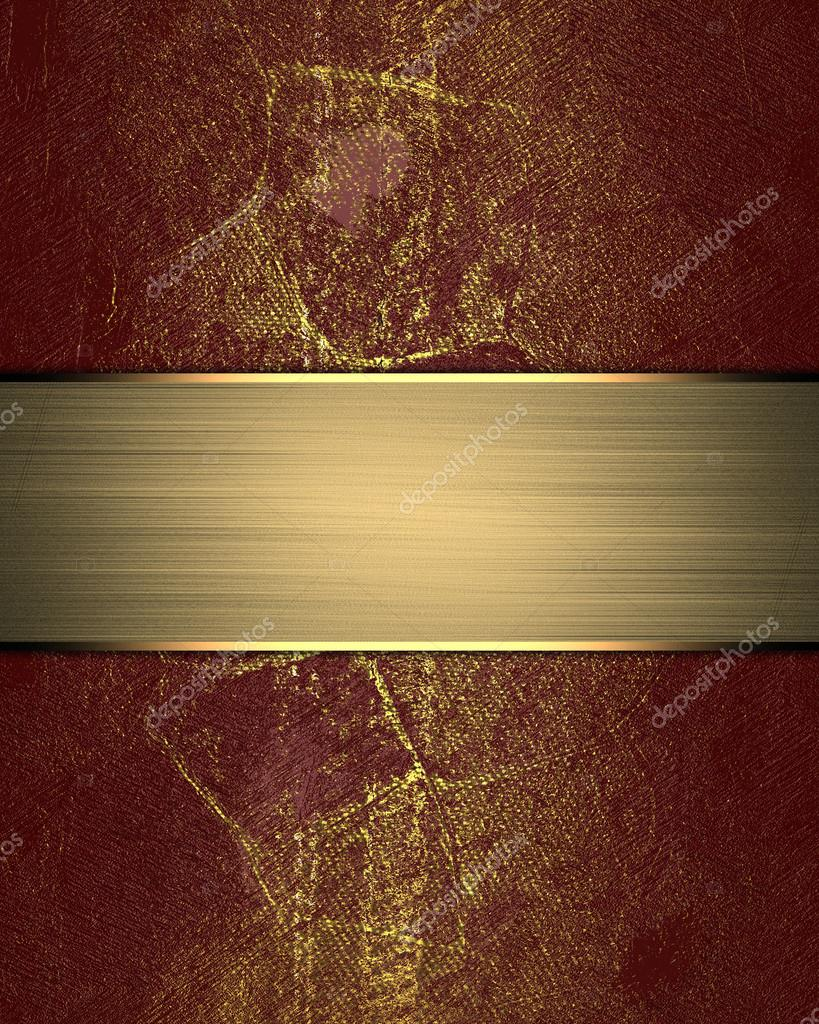 Grunge red texture with gold nameplate template for design copy grunge red texture template for design copy space for ad brochure or announcement invitation foto de swevil stopboris Images