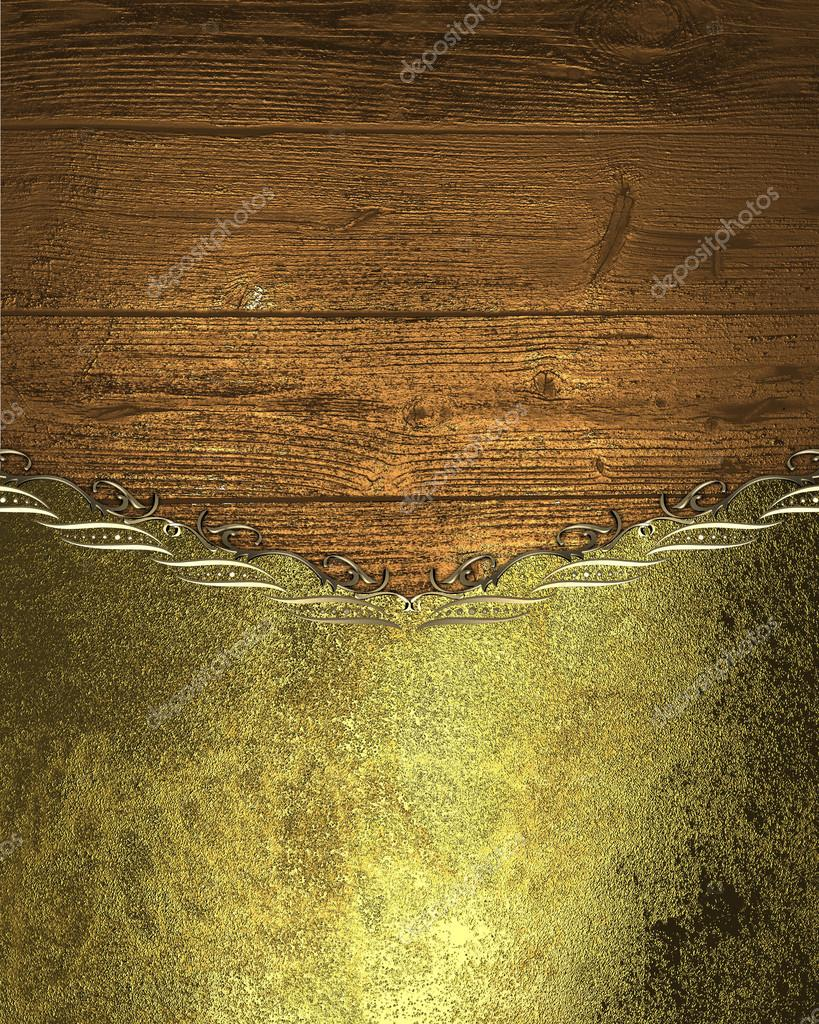 Wooden texture with gold the layout for the invitation template wooden texture with gold the layout for the invitation template for design copy stopboris Image collections
