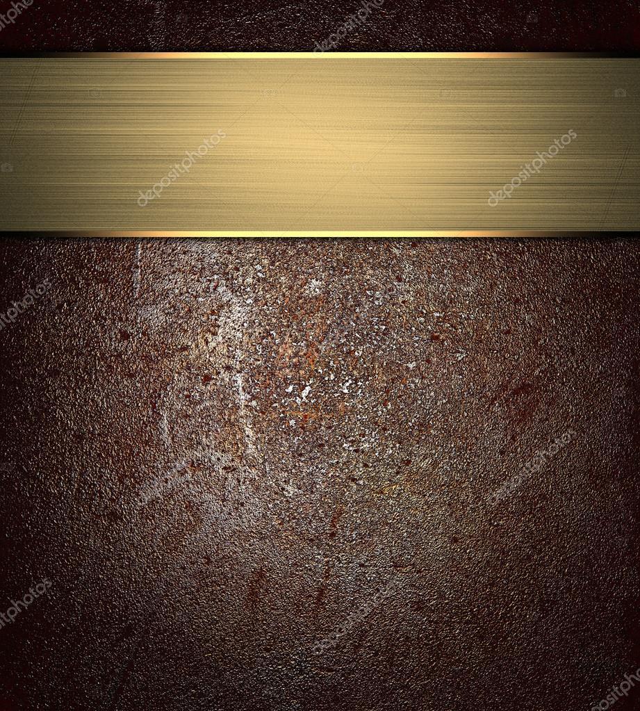 alte abgenutzte braun Textur mit gold Band. Entwurfsvorlage. Design ...
