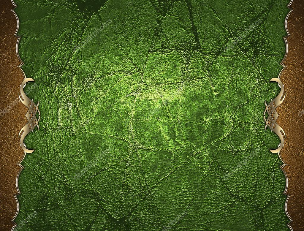 Vorlage goldene Rahmen auf grünem Hintergrund. Entwurfsvorlage ...