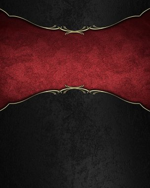 Black velvet background with red velvet tablet. Template design for text. Template for site