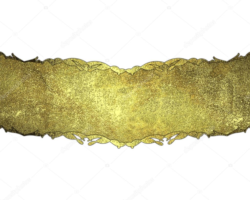 Template Design Gold Nameplate Template Design Stock Photo - Name plate template