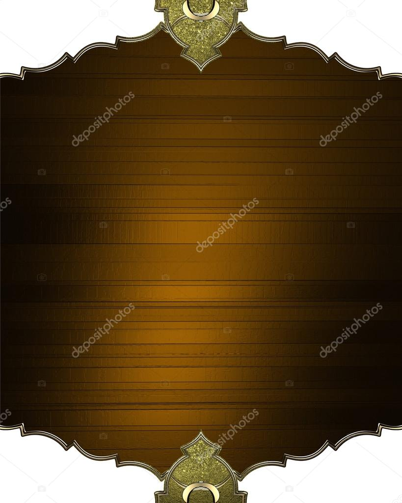 brown plaque with an antique frame design template design site