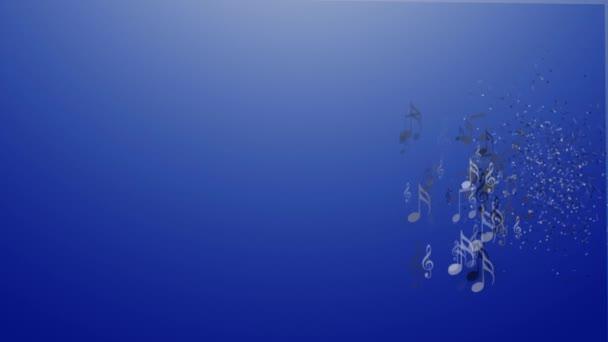 S reproduktory na modrém pozadí abstraktní hudbou