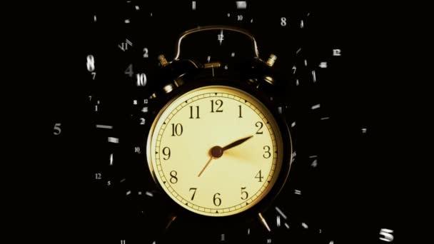 Régi ébresztőóra. Idő telik el. Órák és percek elszáll