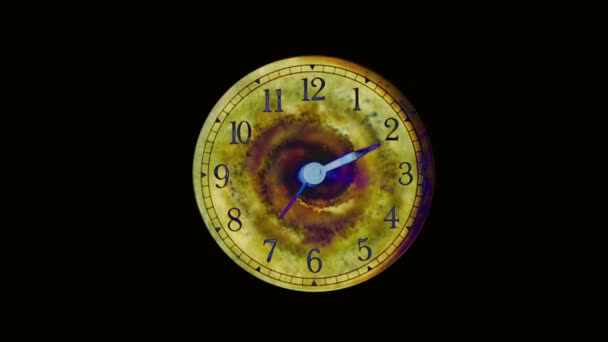 The watch dial with a black hole. The concept of the curvature of space and time, or a waste of time