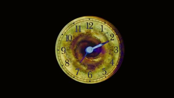 Ciferník hodinek s černou dírou. Zakřivení prostoru a času, nebo ztráta času