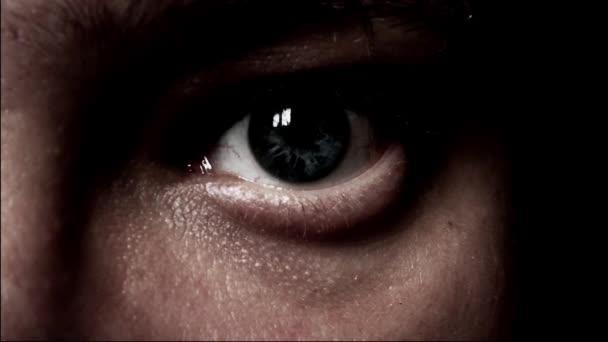 mužské oko detail