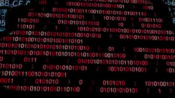 Cloud computingu, vyrobené s konceptem binárního kódu. Tok informací do oblak. Koncepce ochrany informací mraků