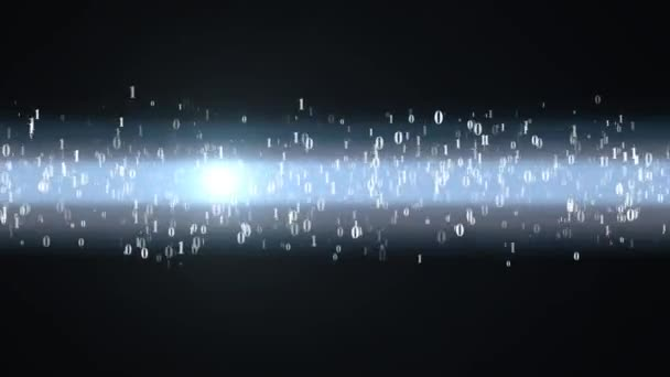 Directed motion of the binary code. Binary code moves through the wires