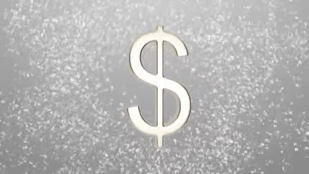 Background Of Different Currencies Symbols Rotating Around A Dollar