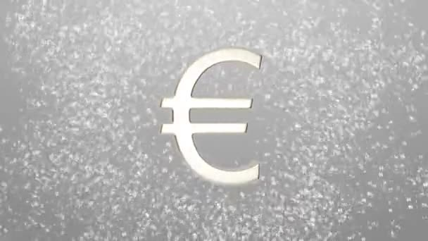Background of different currencies symbols rotating around a euro sign currency