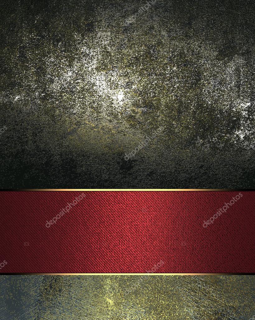 Grunge schwarzen Hintergrund mit einem goldenen Zeichen für den Text ...