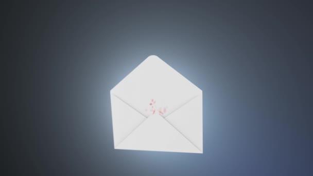 Koncept spamu. Množství spamu létající z obálky