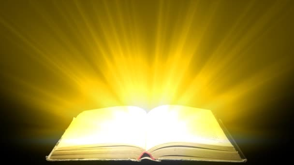 Concept of love for book. Magic light escapes from the book