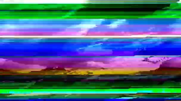 Digital video glitch matte. Digital interference