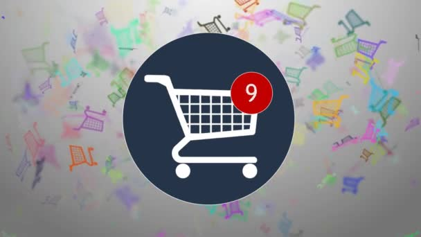 Shopping, shopping in the online store. Many shopping. hopping cart icon