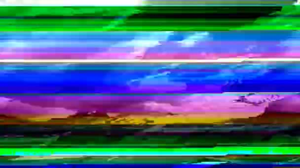 Digital video glitch matte. Digital interference