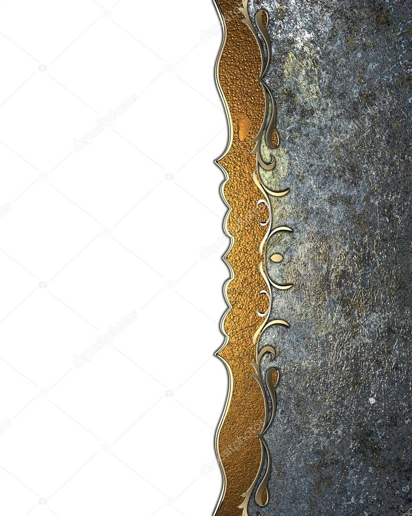 Schön Rahmen mit Goldeinlagen verziert, das Layout für Text zu ...