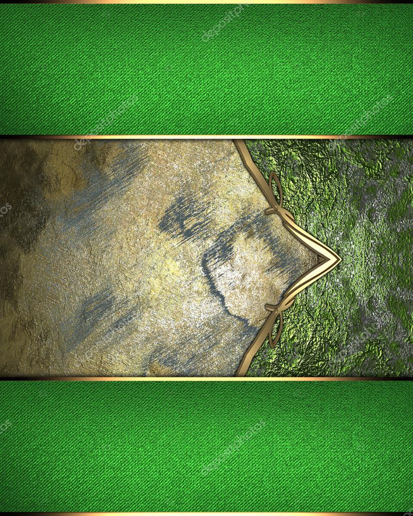 Zusammenfassung Hintergrund mit einer grünen Grenze. Element für ...