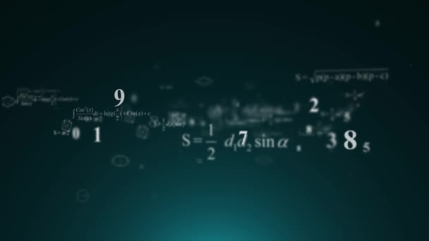 Mathematische Formeln fliegen. Zahlen, mathematische Formel, Geometrie