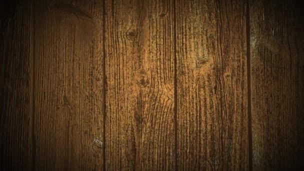 Hintergrundanimation von Holzplanken. Kamera bewegt