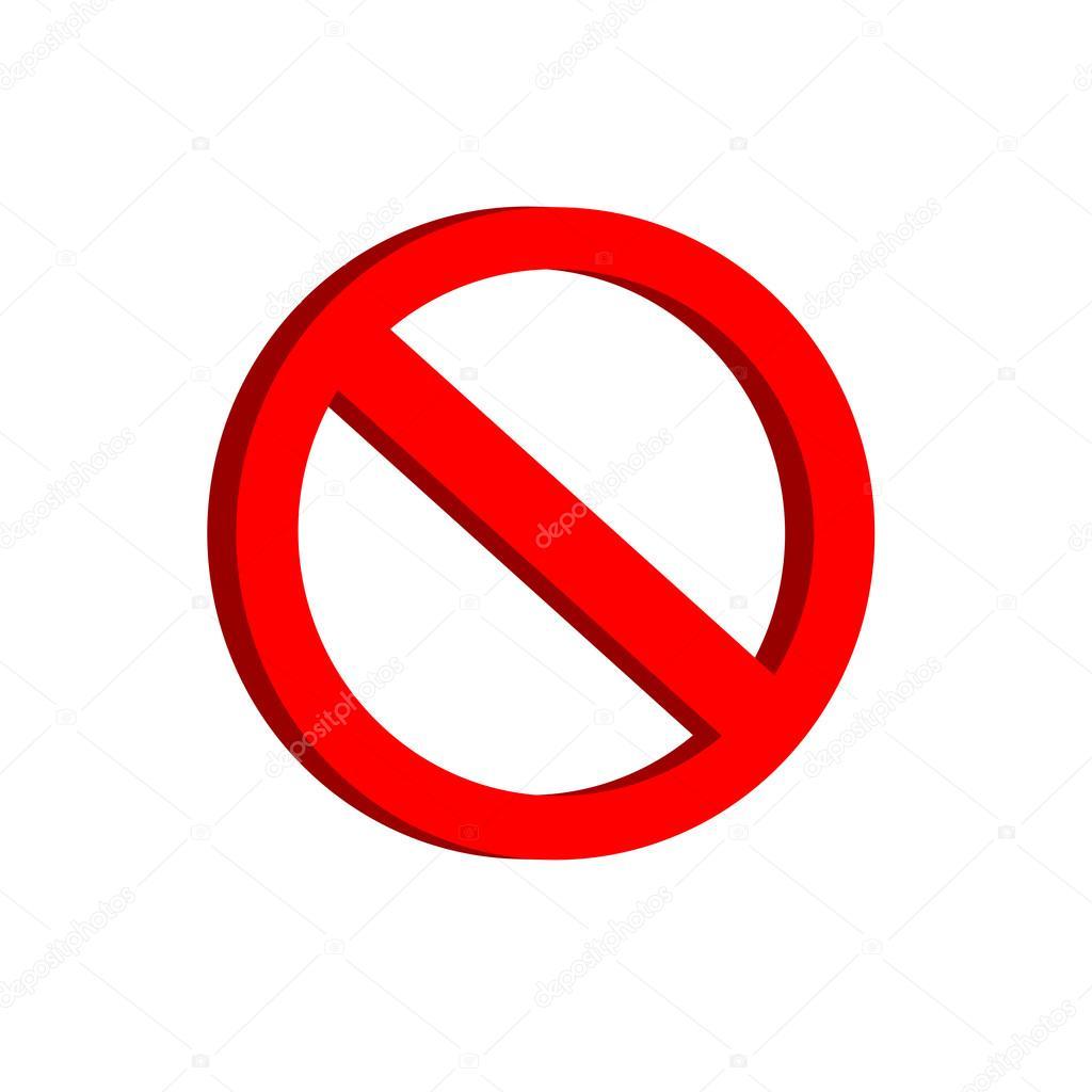 Prohibición redonda plantilla de signo de advertencia rojo parada ...