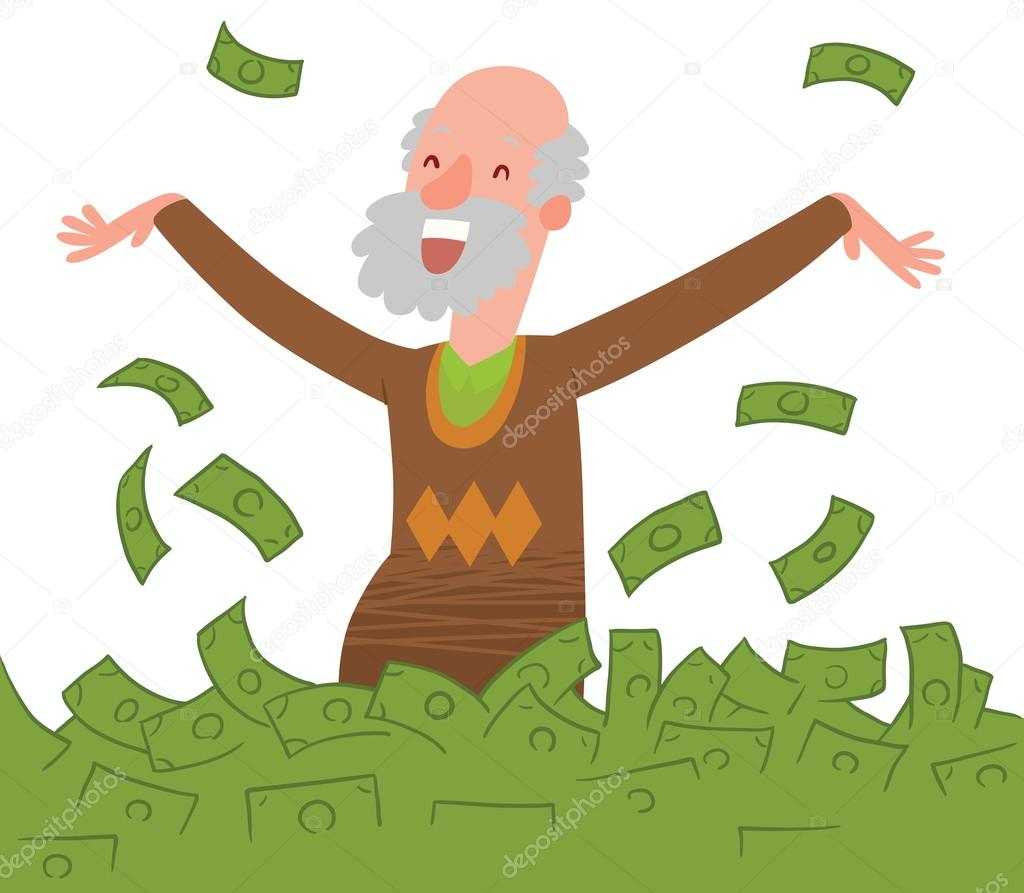 Image result for old man with a lot of money