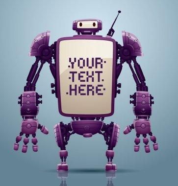 Purple big robot banner