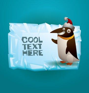 Funny little penguin banner